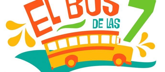 El Bus logo with school bus