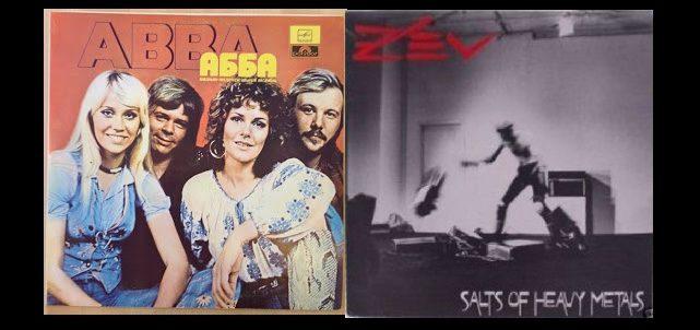 ABBA and Z'ev album covers