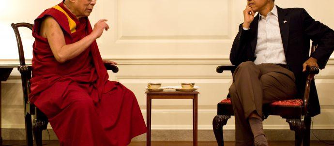 barack obama with dalai lama in white house