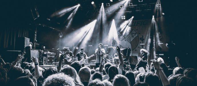 shot of band at concert